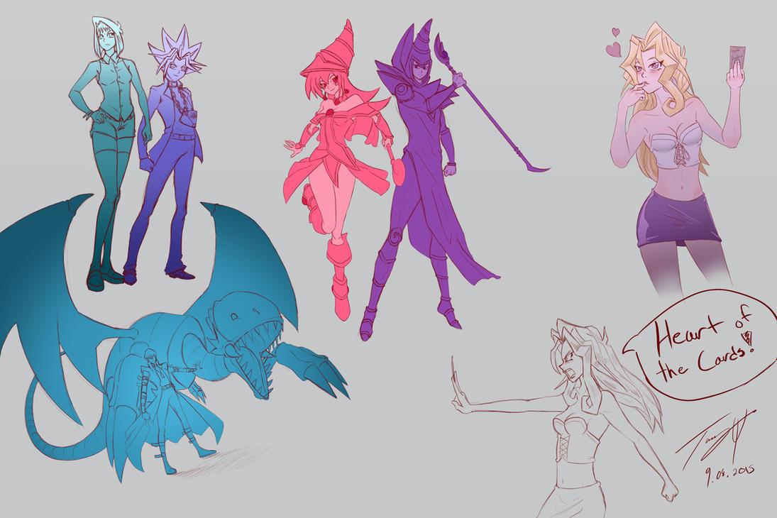 Yugioh Doodles by MonsterSix