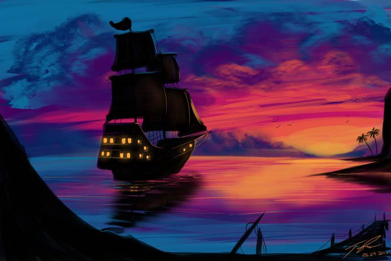 Sunset Adventure Condense by MonsterSix