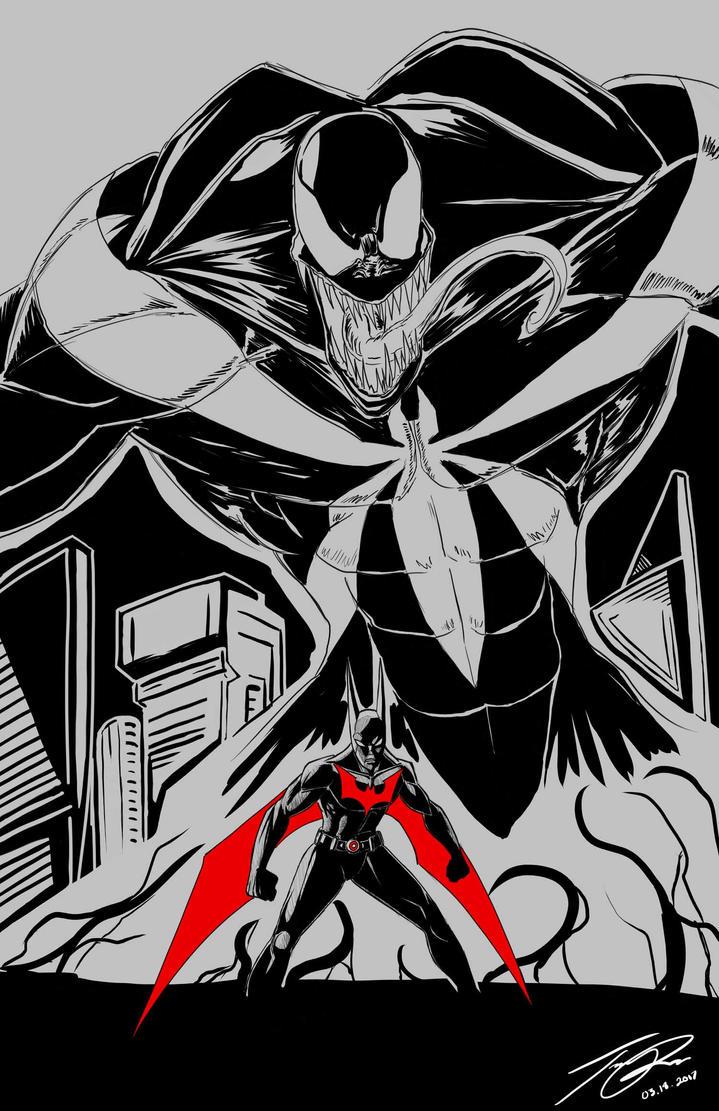 Batman Beyond and Venom by MonsterSix
