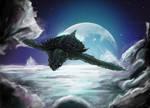 Gamera in the moonlight