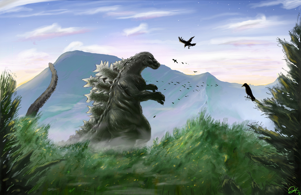 Godzilla Painting by gfan2332