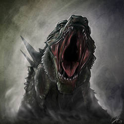 2014 Godzilla head shot by gfan2332