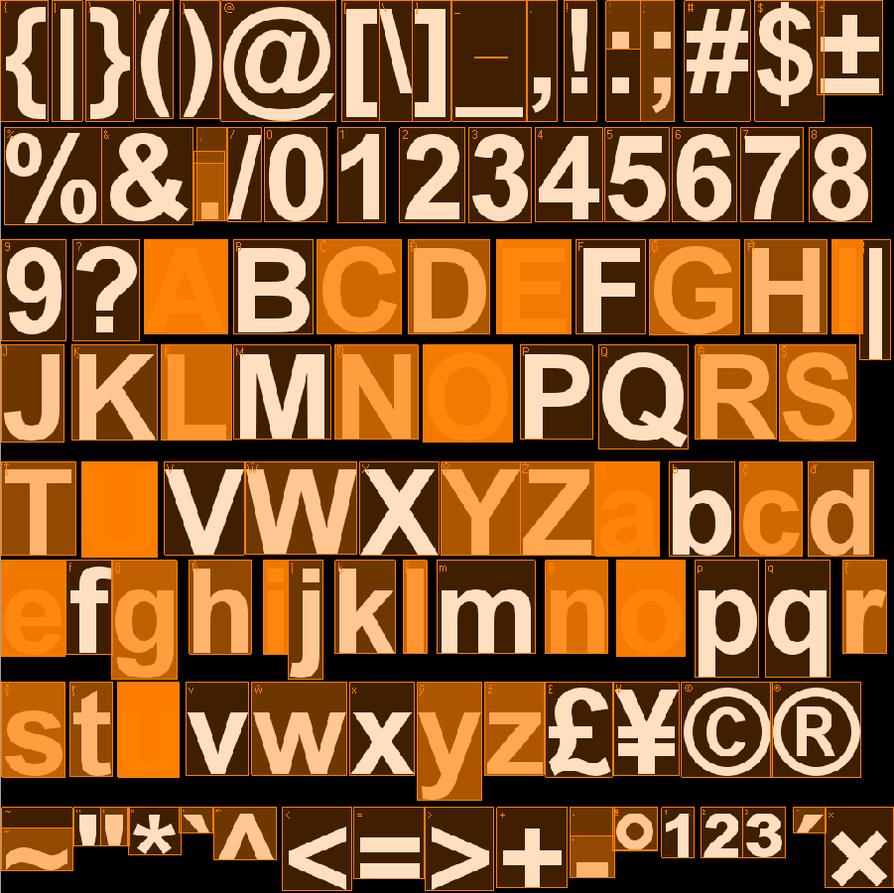 Orange Square Type by Satsumo