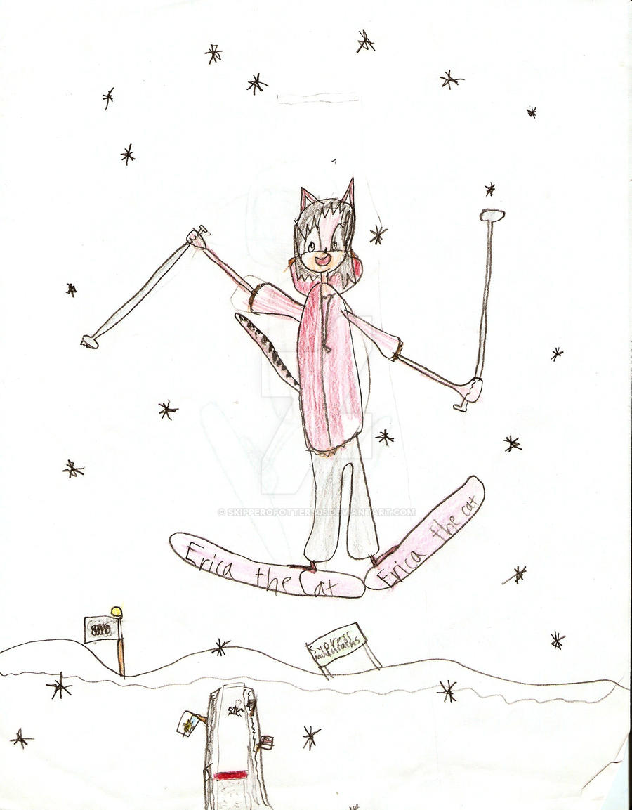 Erica the Cat - Ski Jumping by skipperofotters05