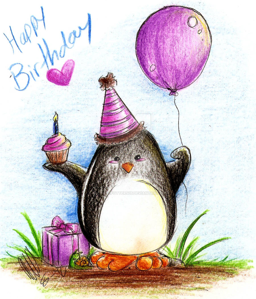 Birthday Penguin By Skipperofotters05 On DeviantArt