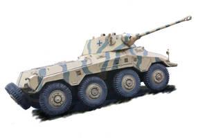 Puma - WW2 Armoured Car by Mattwhiteart