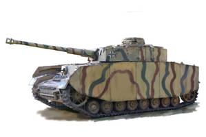 Panzer IV WW2 tank by Mattwhiteart