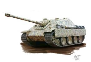 Jagdpanther by Mattwhiteart