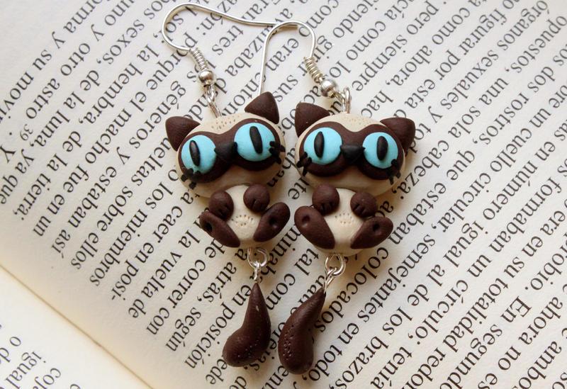 Cat Earrings... by Nabila1790