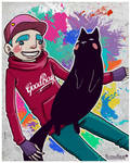 Chico y gato