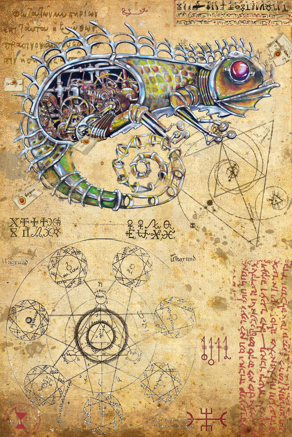 Pages of the secret book Chameleon by IliEve on DeviantArt