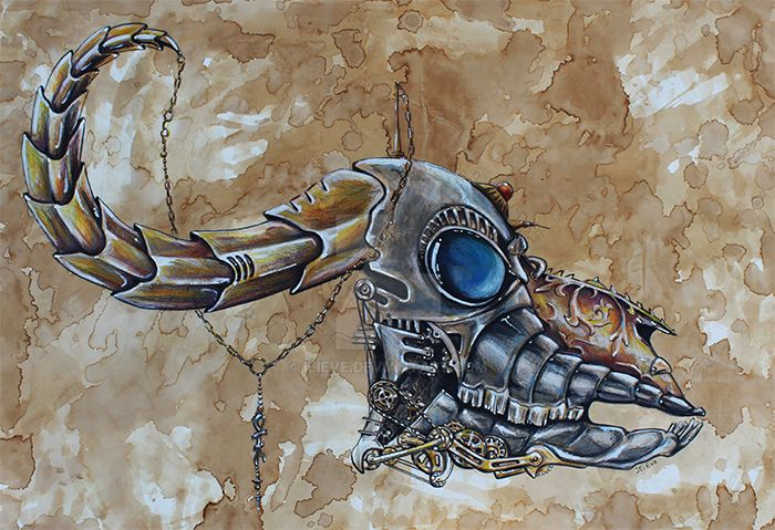 Steampunk Skull by IliEve