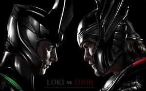 Loki Vs Thor by Gabby-chan1994
