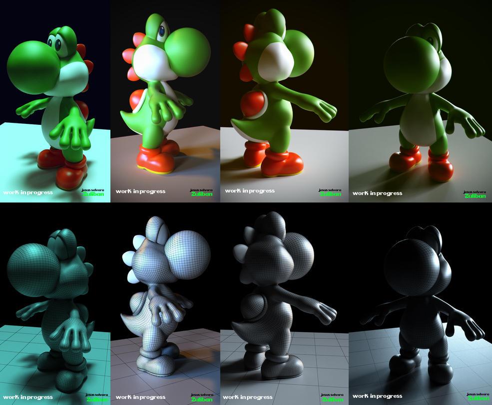 Yoshi 3d Work in progress by zuliban