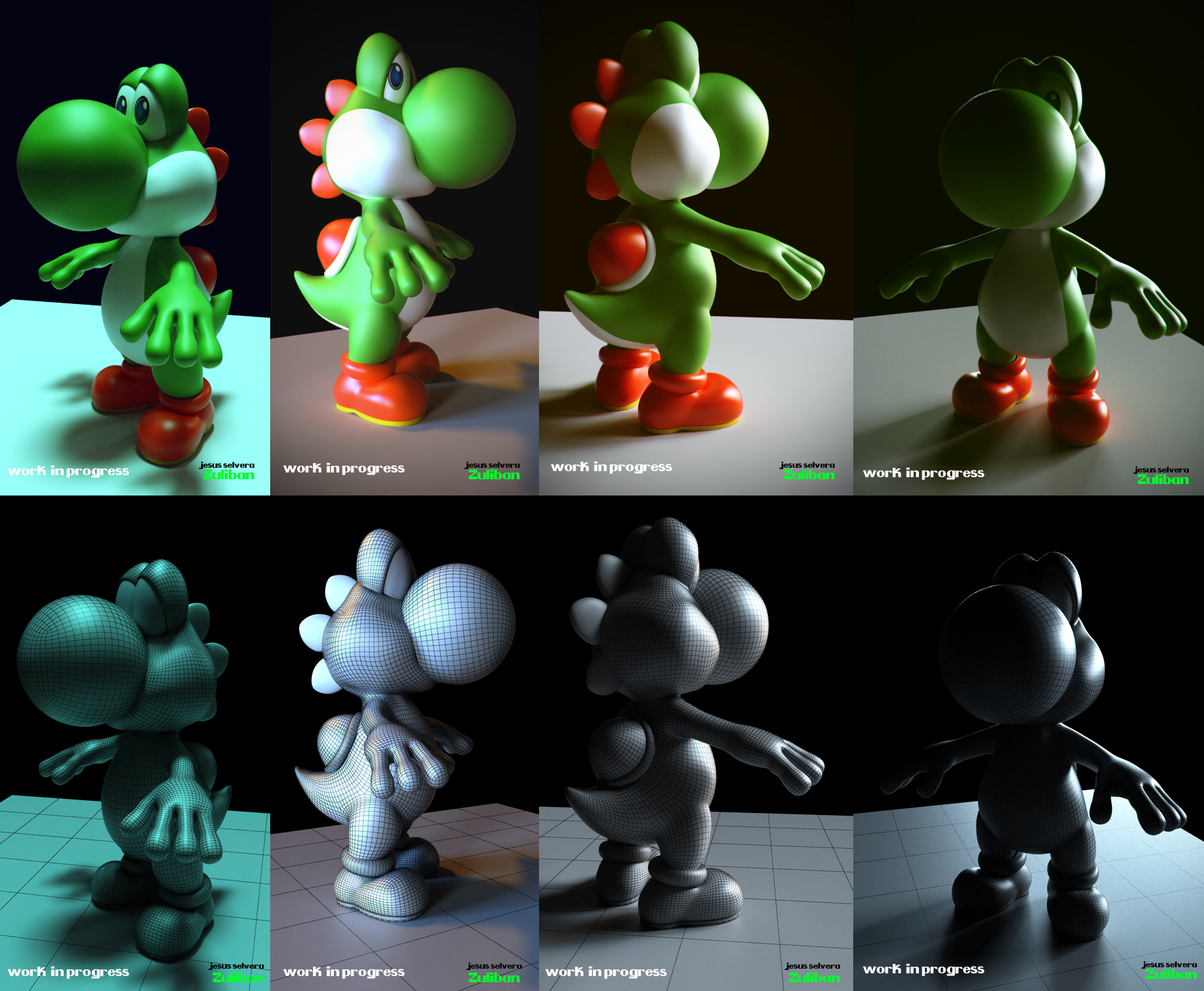 Yoshi 3d Work in progress by zuliban