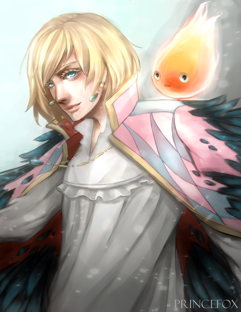 Howl and Calcifer by Londei