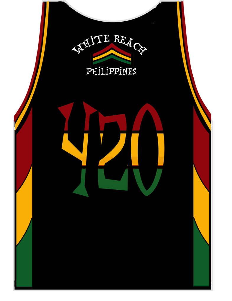 Rasta star back side 420 rasta shack jerseys by bigslipdaddy