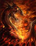 An ocean of flames