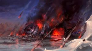 Rain of Fire - Speedpaint Commission