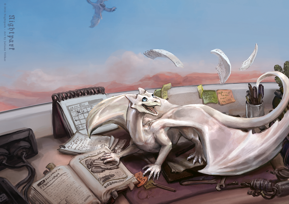 Academia Draconia - Book Cover Commission by Nightpark