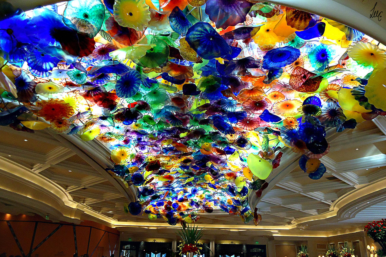 Ceiling art in bellagio hotel casino caribbean casino resorts
