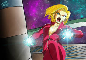 Android 18 tournament of power by Unique-Shadow