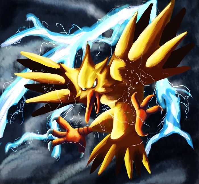 Zapdos Thunder by PhatFoatzel