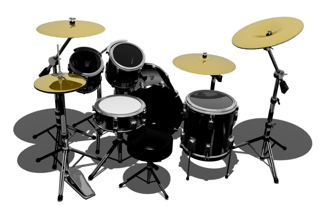 Black Drum Kit By HerbertShin