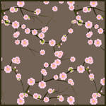 First spring blossoms pattern