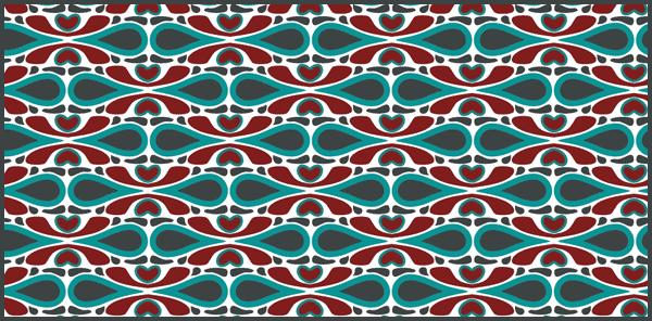 tile patterns red marine by PajkaBajka