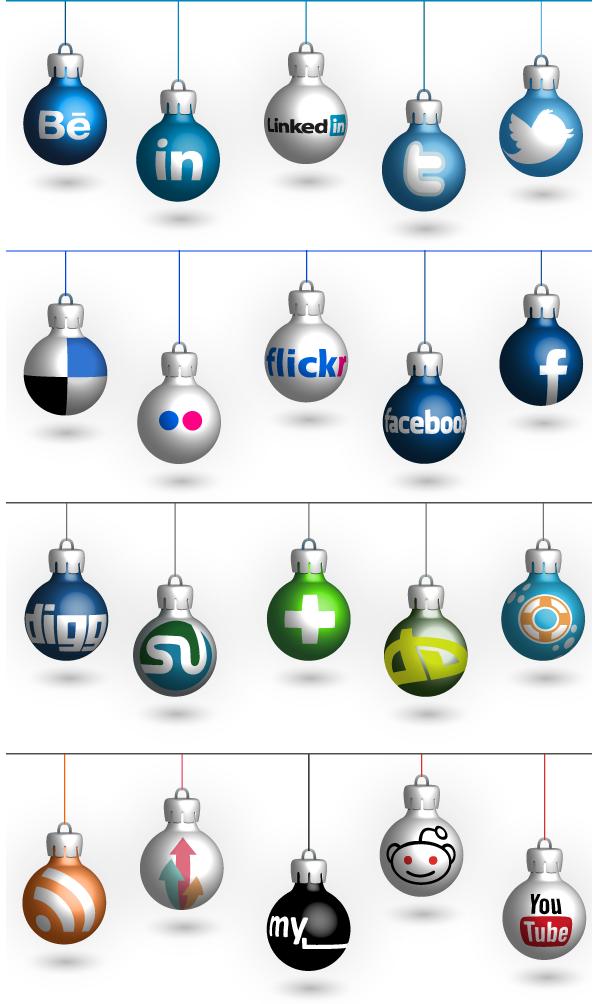 Social Icons 4 Christmas by PajkaBajka