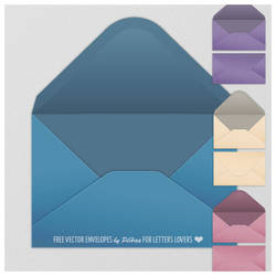 Vector envelopes by PajkaBajka