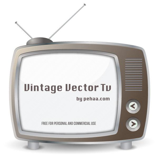 Vintage vector TV-set by PajkaBajka