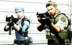 BSAA Chris Redfield and Jill Valentine