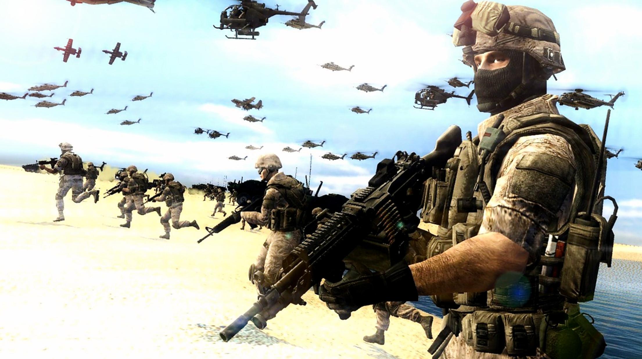 Marines Landing by LordHayabusa357