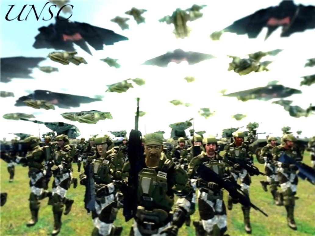 Sgt. Johnson and his marines by LordHayabusa357