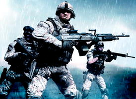 Combating in a Storm, its what Marines do