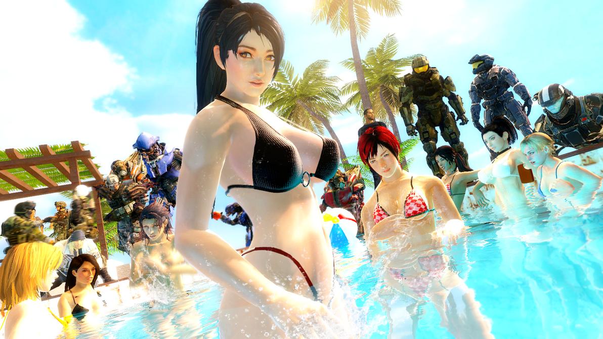 Pool Party by LordHayabusa357