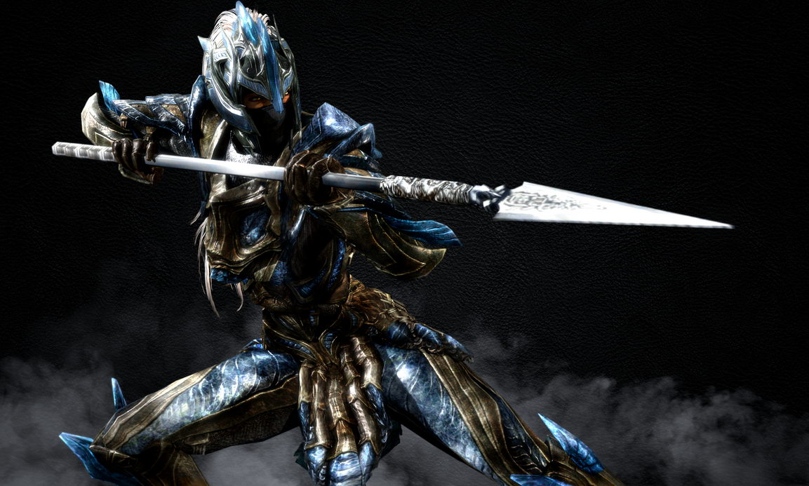 Female Elven Spear Woman by LordHayabusa357