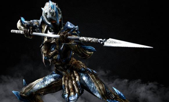 Female Elven Spear Woman