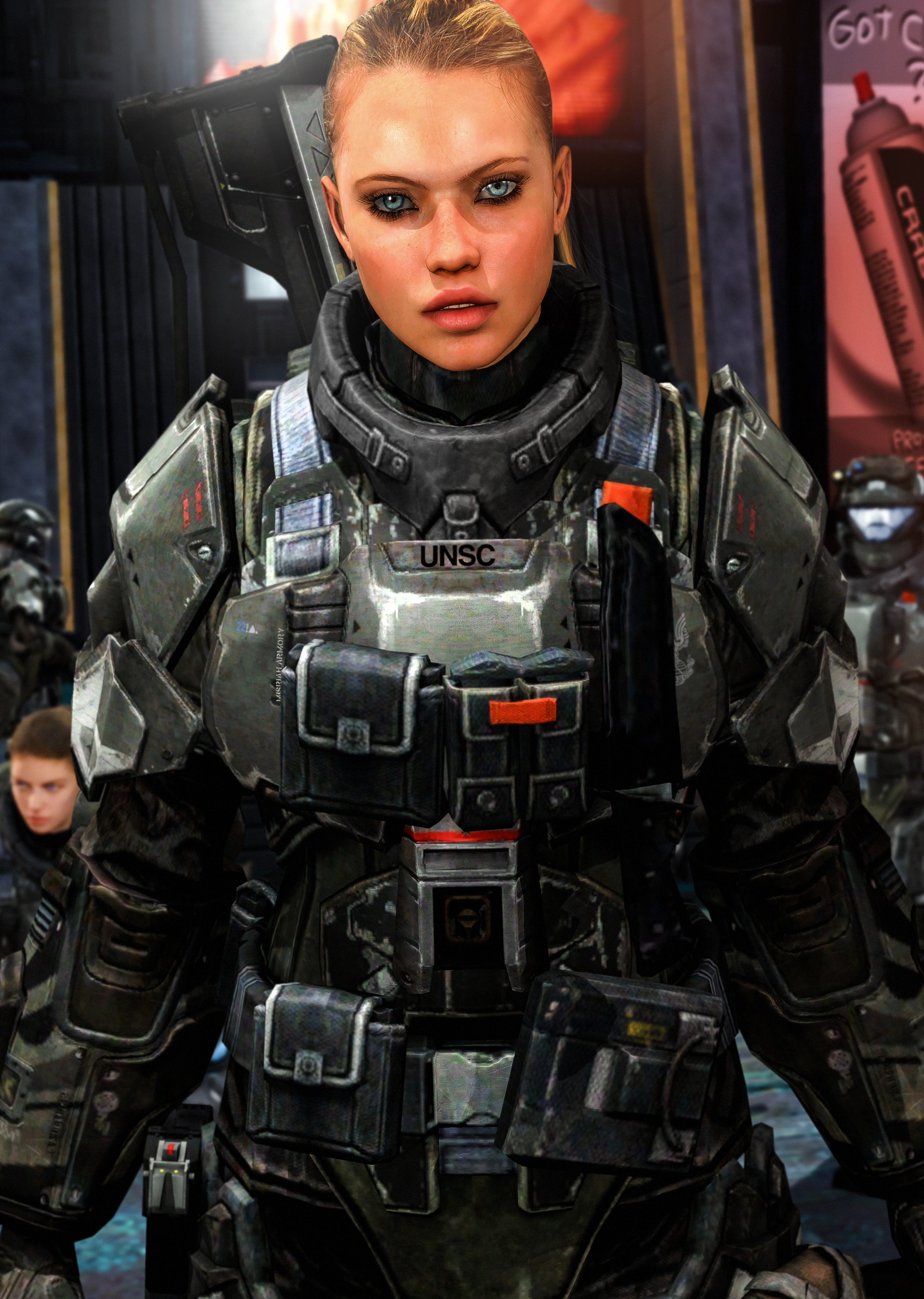Female ODST Close Up by LordHayabusa357 on DeviantArt