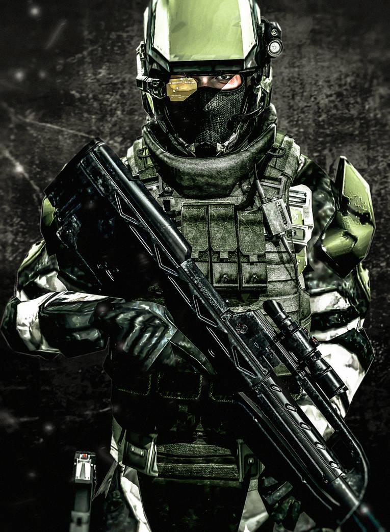 UNSC Tactical Marine by LordHayabusa357