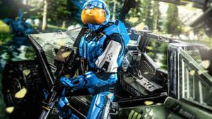 The Boss (SPARTAN II Armor) by LordHayabusa357