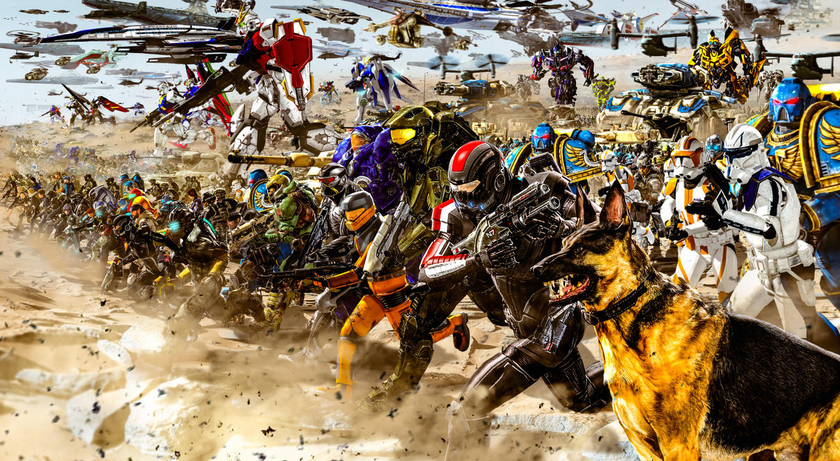 Battle for the Cosmos (Light Side Army) by LordHayabusa357