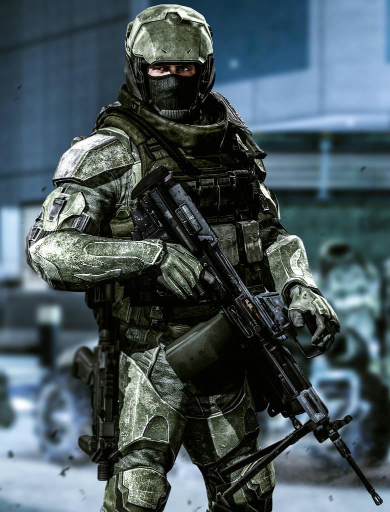 UNSC Marine S.A.W. Gunner (H2A) by LordHayabusa357