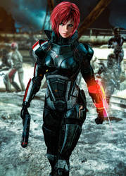 Commander Jane Shepard (ME3) by LordHayabusa357
