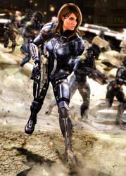 Lt. Commander Ashley Williams by LordHayabusa357