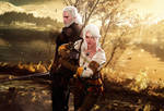 Father and Daughter (The Witcher 3: Wild Hunt) by LordHayabusa357