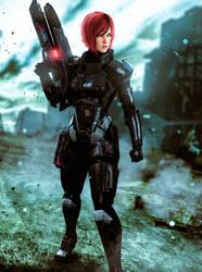 Jane Shepard (Mass Effect 3) by LordHayabusa357