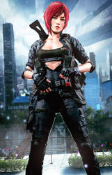 Jane Shepard Light Gear (ME3) by LordHayabusa357